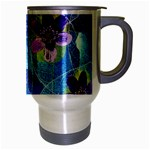 Purple Flowers Travel Mug (Silver Gray) Right