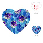 Purple Flowers Playing Cards (Heart)  Front