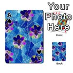 Purple Flowers Playing Cards 54 Designs  Front - SpadeA