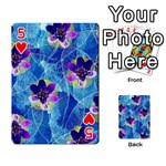Purple Flowers Playing Cards 54 Designs  Front - Heart5