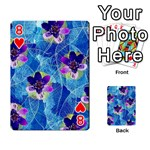Purple Flowers Playing Cards 54 Designs  Front - Heart8