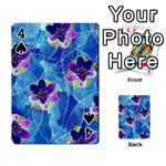 Purple Flowers Playing Cards 54 Designs  Front - Spade4