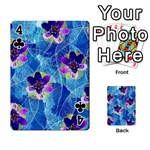Purple Flowers Playing Cards 54 Designs  Front - Club4