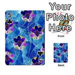 Purple Flowers Playing Cards 54 Designs  Front - Club5