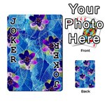 Purple Flowers Playing Cards 54 Designs  Front - Joker1