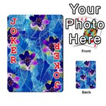 Purple Flowers Playing Cards 54 Designs  Front - Joker2