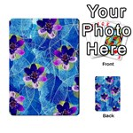 Purple Flowers Playing Cards 54 Designs  Back