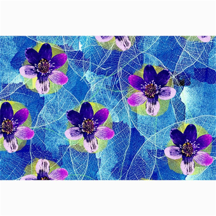 Purple Flowers Collage Prints