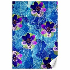 Purple Flowers Canvas 24  X 36  by DanaeStudio