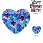 Purple Flowers Playing Cards 54 (Heart)  Front - Heart9