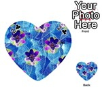 Purple Flowers Playing Cards 54 (Heart)  Front - Club2