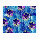 Purple Flowers Small Glasses Cloth (2-Side) Back