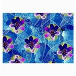 Purple Flowers Large Glasses Cloth (2-Side) Front
