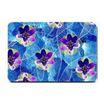 Purple Flowers Small Doormat  24 x16 Door Mat - 1