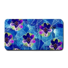 Purple Flowers Medium Bar Mats by DanaeStudio