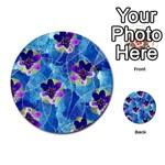 Purple Flowers Multi-purpose Cards (Round)  Back 19