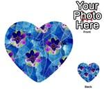 Purple Flowers Multi-purpose Cards (Heart)  Back 2