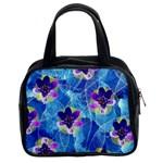 Purple Flowers Classic Handbags (2 Sides)