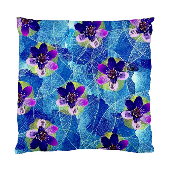 Purple Flowers Standard Cushion Case (One Side)
