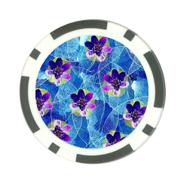 Purple Flowers Poker Chip Card Guards (10 pack)