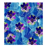 Purple Flowers Shower Curtain 66  x 72  (Large)  58.75 x64.8 Curtain