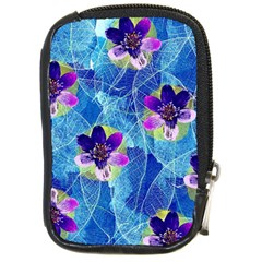 Purple Flowers Compact Camera Cases by DanaeStudio