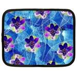 Purple Flowers Netbook Case (XL)