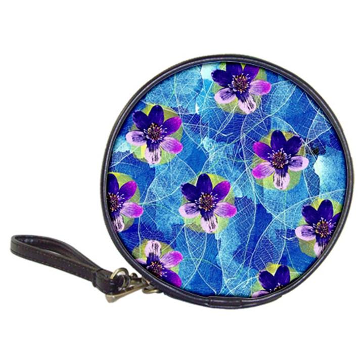Purple Flowers Classic 20-CD Wallets