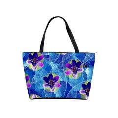 Purple Flowers Shoulder Handbags