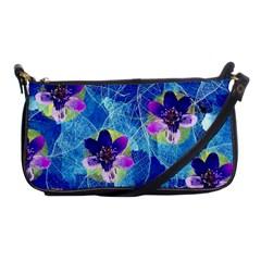 Purple Flowers Shoulder Clutch Bags by DanaeStudio
