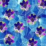 Purple Flowers Magic Photo Cubes