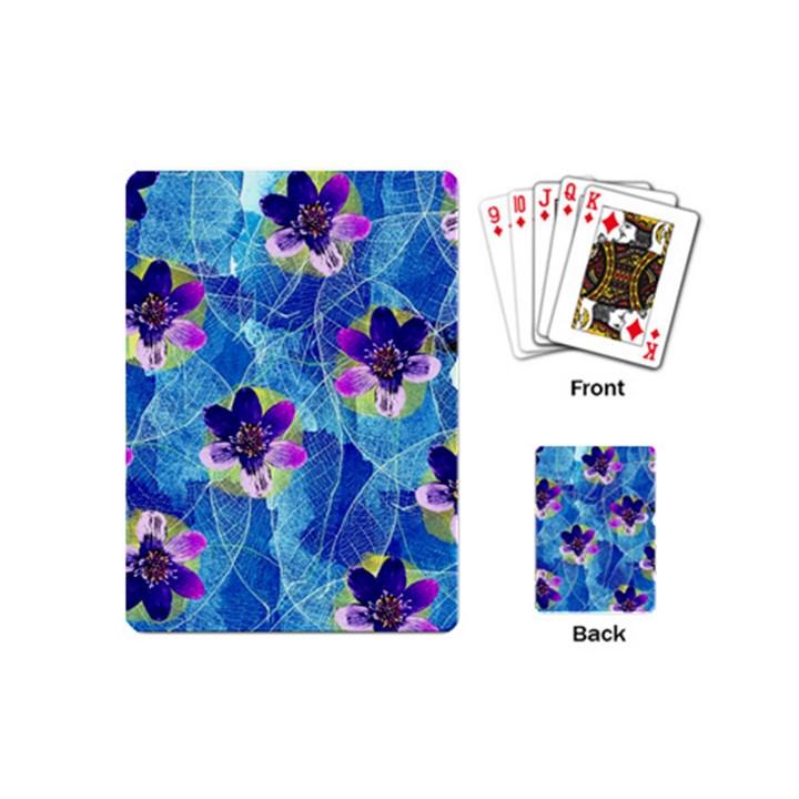 Purple Flowers Playing Cards (Mini)