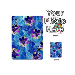 Purple Flowers Playing Cards 54 (mini)  by DanaeStudio