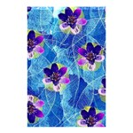 Purple Flowers Shower Curtain 48  x 72  (Small)  42.18 x64.8 Curtain