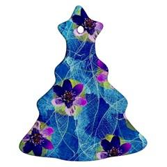 Purple Flowers Christmas Tree Ornament (2 Sides)