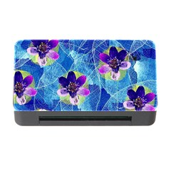 Purple Flowers Memory Card Reader With Cf
