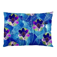 Purple Flowers Pillow Case (two Sides) by DanaeStudio