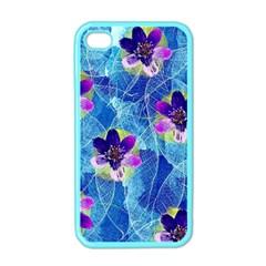 Purple Flowers Apple Iphone 4 Case (color)