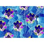 Purple Flowers Heart Bottom 3D Greeting Card (7x5) Front