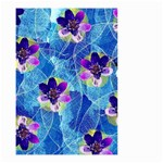 Purple Flowers Small Garden Flag (Two Sides) Back