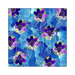Purple Flowers Acrylic Tangram Puzzle (6  X 6 ) by DanaeStudio