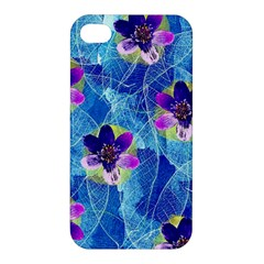 Purple Flowers Apple Iphone 4/4s Premium Hardshell Case by DanaeStudio