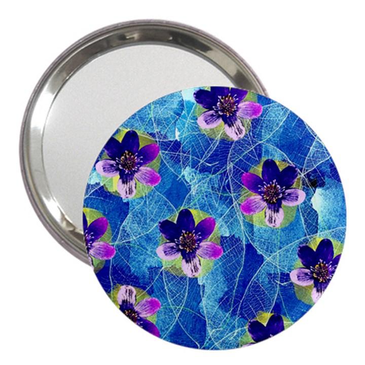 Purple Flowers 3  Handbag Mirrors