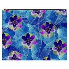 Purple Flowers Cosmetic Bag (xxxl)  by DanaeStudio