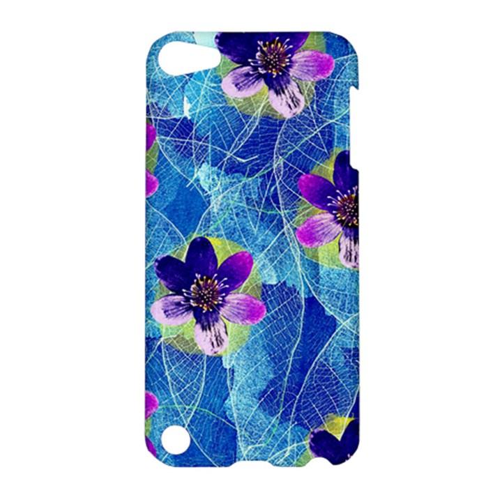 Purple Flowers Apple iPod Touch 5 Hardshell Case