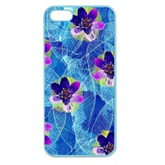 Purple Flowers Apple Seamless Iphone 5 Case (color) by DanaeStudio