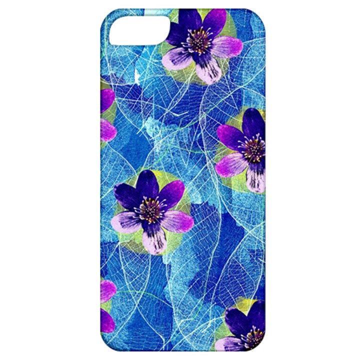 Purple Flowers Apple iPhone 5 Classic Hardshell Case