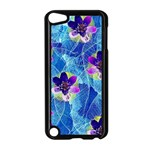 Purple Flowers Apple iPod Touch 5 Case (Black) Front