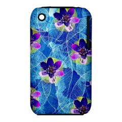 Purple Flowers Apple Iphone 3g/3gs Hardshell Case (pc+silicone) by DanaeStudio