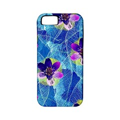 Purple Flowers Apple Iphone 5 Classic Hardshell Case (pc+silicone)